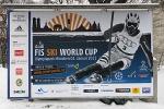 München, Reklame für FIS-Rennen, 2.12.2010