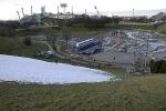 München, Olympiapark, Vorbereitungen für Ski-Weltcup (abgesagt wegen Schneemangels) 26.12.2011