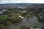 München, Olympiapark, Vorbereitungen für Ski-Weltcup (abgesagt wegen Schneemangels) 1.1.2012